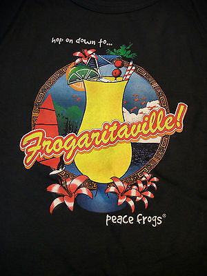 Peace Frogs Jr Navy Frogaritaville Muscle T-Shirt Small