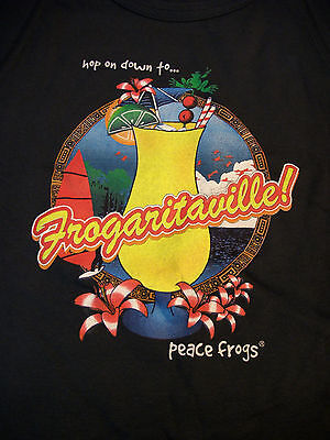 Peace Frogs Jr Navy Frogaritaville Muscle T-Shirt Xxl