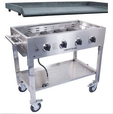 Crestware PCG-Base and PCG-GT Folding Portable Commercial Griddle