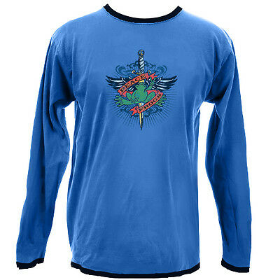Peace Frogs Jr Long Sleeve Blue Xl T-Shirt