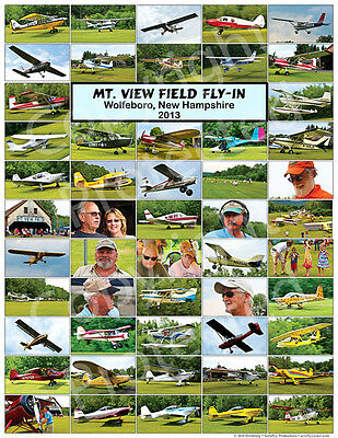 Mt. View Field Airport 2013 Fly In Poster - New Hampshire Grass Strip - Quality