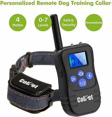 2 NEW Waterproof Rechargeable MEDIUM LARGE ANTI BARK NO BARKING DOG SHOCK COLLAR
