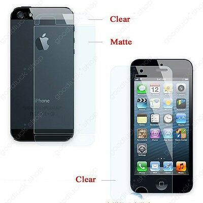 10pcs Clear Front and back screen protector for iPhone 5 5G