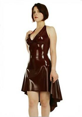 Mixed Intimate Items 100% Quality 100% Latex Rubber Gummi 0.48mm Mini Dress Skirt Catsuit Zip Suit Party fashion