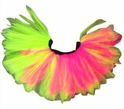 Neon Rainbow Tutu Skirt 80s Fancy Dress Hen Party Night Fun Run Festival