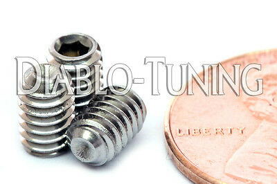 """A2 18-8 Stainless Steel Set Screws Cup Point Grub UNC #6-32 x 1/"""""""