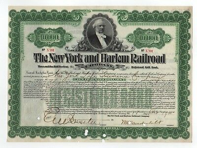 1900 The New York and Harlem Railroad Co. Bond - William K. Vanderbilt