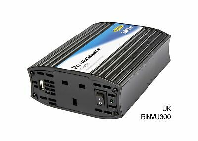 Ring RINVU300 12v 300W Invertor Inverter AC power for Laptops TV Power Tools USB