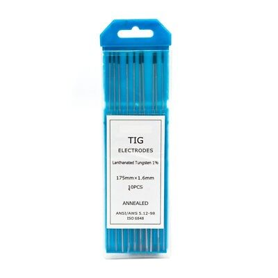 1.6mm 1% Lanthanated TIG Tungsten electrodes -  PREMIUM QUALITY - Pack of 10