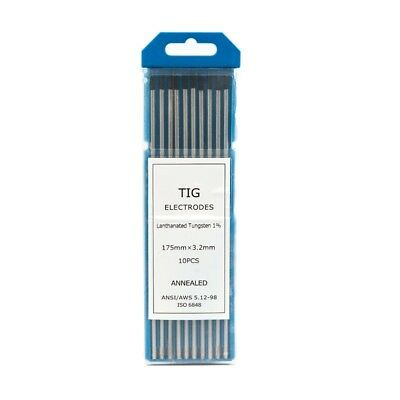 3.2mm, 1% Lanthanated TIG Tungsten electrodes -- PREMIUM QUALITY - Pack of 10