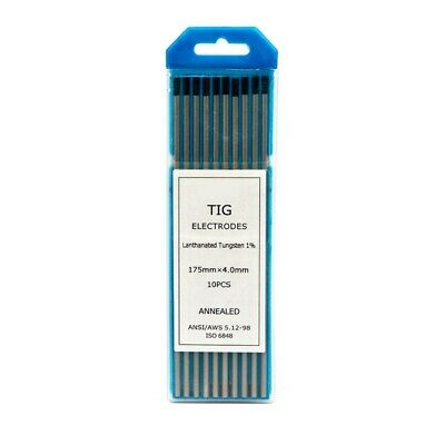 4.0mm 1% Lanthanated TIG Tungsten electrodes PREMIUM QUALITY -Pack of 10