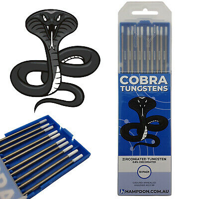 1.0mm Zirconiated COBRA TIG Tungsten Electrodes - PREMIUM QUALITY - Pack of 10