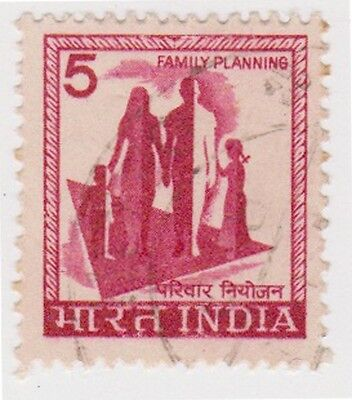 (IB32) 1965 INDIA 5p red family planning ow506