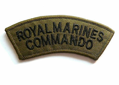 GENUINE RM COMMANDO CLOTH BADGE sew on olive special forces patch Royal Marines