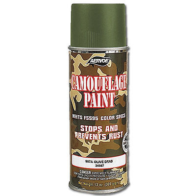 Olive Drab Green Digital Camouflage Camo Gun Military Army Weapon Spray Paint