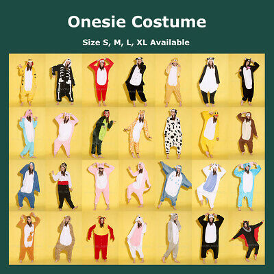 Unisex Adult Fleece Onesie Kigurumi Animal Pajamas Cosplay Costome Sleepwear