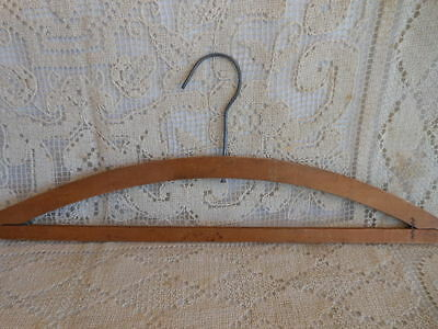 VINTAGE FOREMAN & CLARK~UPSTAIRS CLOTHIERS~WOOD ADVERTISING HANGER~COAST TO COAS