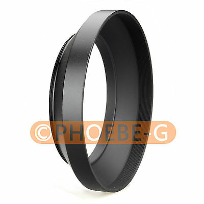 82mm metal wide angle screw in mount lens hood for Canon Nikon Pentax Sony