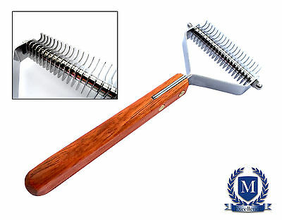 New Masterclip Dog Grooming Deshedding Coat Thinning Tool - FREE P&P