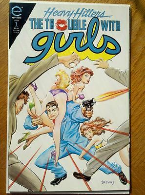 Heavy Hitters The Trouble With Girls Night of the Lizard#1 of 4 Epic Comics 1993