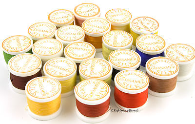Pearsall's Gossamer Silk Thread for Rod Wrapping or Fly Tying Size 6/0
