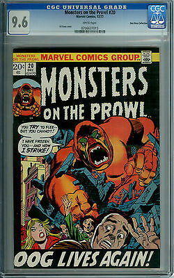 MONSTERS ON THE PROWL #20 CGC 9.6 WHITE PAGES DON ROSA HIGHEST GRADED 1 OF 2