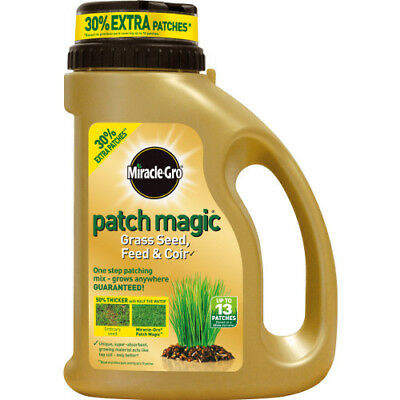 Scotts Miracle-Gro Patch Magic Grass Seed, Feed/Coir Jug 1.015kg