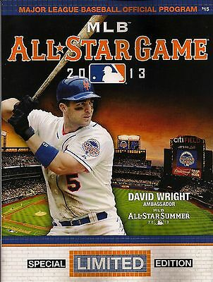 New York Mets 2013 Official Mlb All-Star Game Special Limited Edition Program