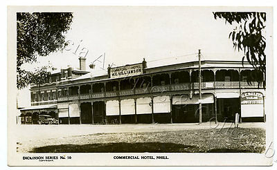 1930's Rp Npu Postcard Williamson's Commercial Hotel Nhill Vic Dickinson Pub P69
