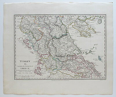 Sduk Map Turkey Greece Northern Part 1829 Published 1844