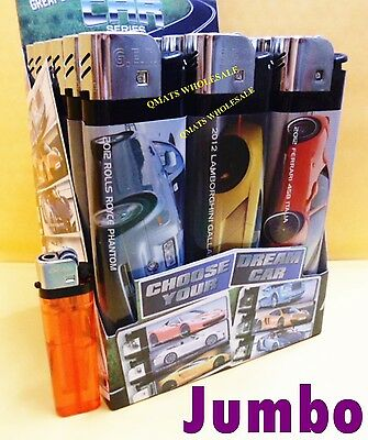 "5 pcs  6.5"" NEW CAR DESIGN JUMBO HUGE DISPOSABLE LIGHTER Cigarette WHOLESALE"