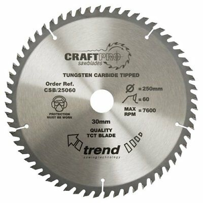 Trend Csb/25060 Craft Saw Blade 250Mm X 60T X 30Mm