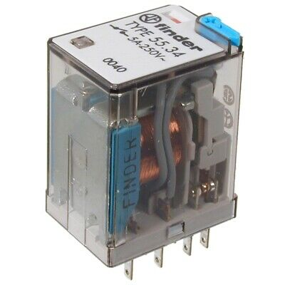 F5534.9-12 Industrie-Relais 12V= 4xUM 140 Ohm 250V~/ 5A Finder 55.34.9.012.0040