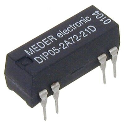 DIP052A7221D Reed-Relais 5V= 2xEIN 200 Ohm mit Diode parallel MEDER