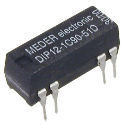 DIP121C9051D Reed-Relais 12V= 1xUM 500 Ohm mit Diode parallel MEDER