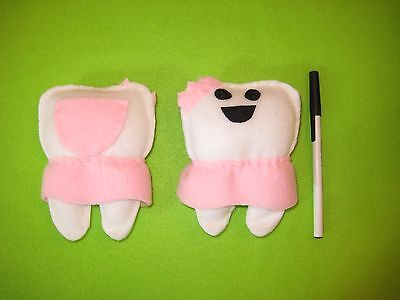 Tooth Fairy Pillows Handmade NEW - Pink