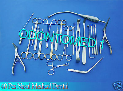 Nasal Set of 40 Instruments Surgical ENT Medical Dental DS-946