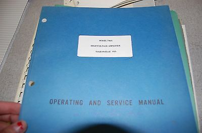 HP 746A High Voltage Amplifier Operating & Service Manual 3115C-2