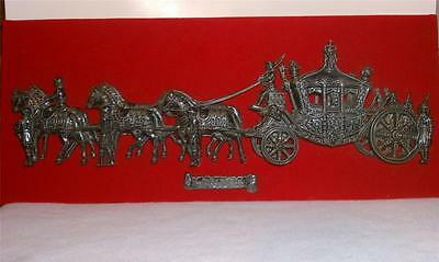 """Antique Collectible Plaque-Coach of George III """"Old Rattlebones""""England 1761"""