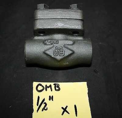 "OMB 0.5 inch 1/2"" DN 15 forged steel check valve Class 800 105N NPT thread NEW"