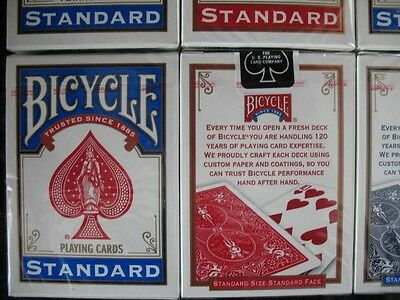 Lot 12 Decks Red Blue Bicycle Regular Index Playing Cards Rider Back 808 New