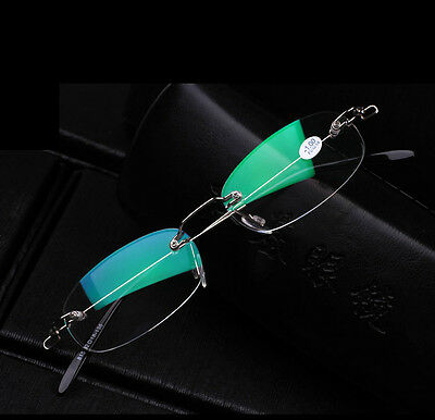 Designer Rimless Metal Reading Glasses Frame Free postage +1.0 1.5 2.0 2.5 3.00