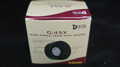 New 0.45X Wide Angle Lens with MACRO 52mm Digital Concepts High Definition