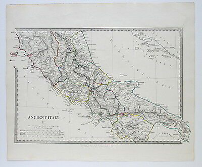 Sduk Map Ancient Italy Ii 1830 Published 1844