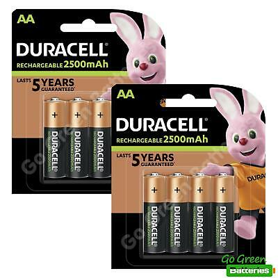 8 x Duracell AA 2500 mAh Rechargeable ULTRA Batteries, NiMH HR6 MN1500 Duralock