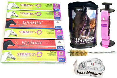 Premium One Year Horse Wormer Rotation Pack + Wormabit Pink + Weight Tape