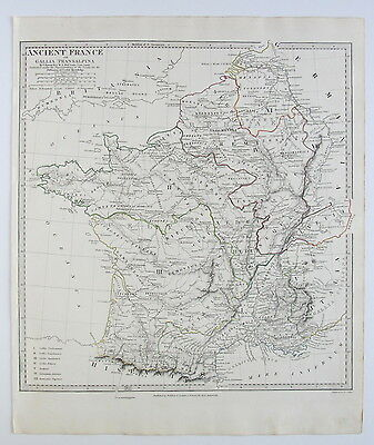 Sduk Map Ancient France Gallia Transalpina 1831 Published 1844