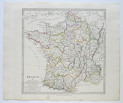 Sduk Map France In Provinces 1831 Published 1844