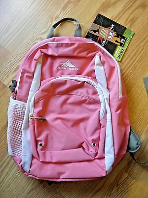 High Sierra Impact Prep Backpack, Pink,  17X11X8, Nwt, 54003