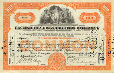 Lackawanna Securities Company > 1929 financial stock certificate share